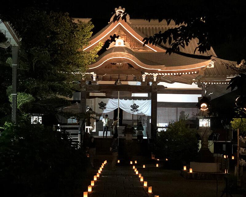 橘寺のライトアップ