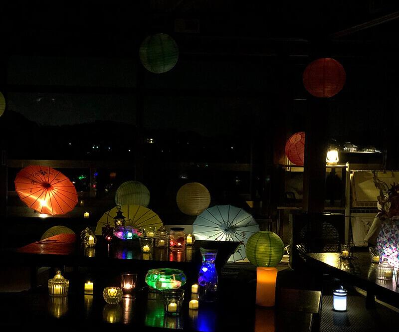 川原寺のライトアップ