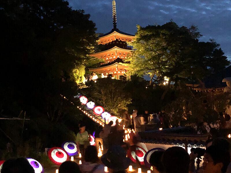 岡寺のライトアップ