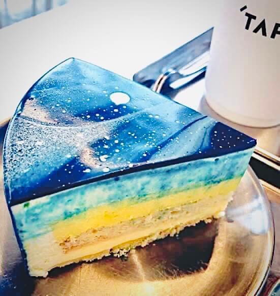 梨泰院のおしゃれカフェcafetape(カフェテープ)のゆずクリームチーズケーキ