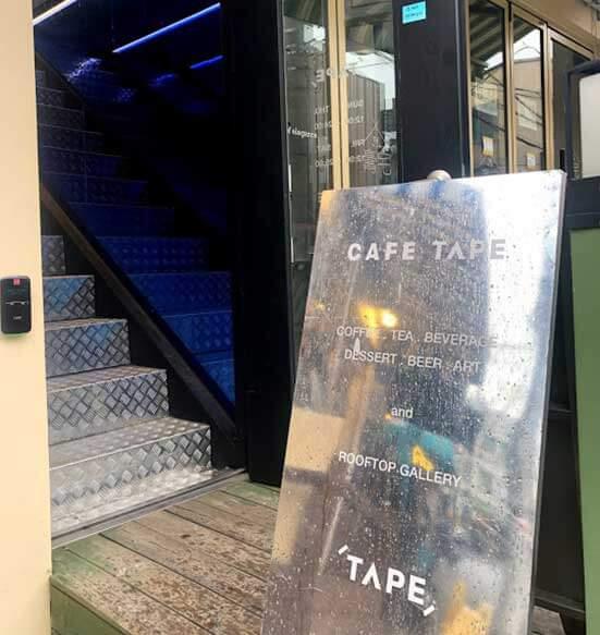 韓国カフェ cafetape(カフェテープ)入り口