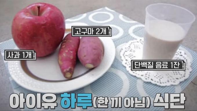 韓国芸能人 IUのダイエット食