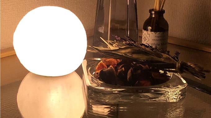ムーンライトの照明が韓国風インテリアを演出