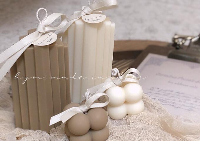 キャンドルは結婚式のおしゃれな装飾にぴったり